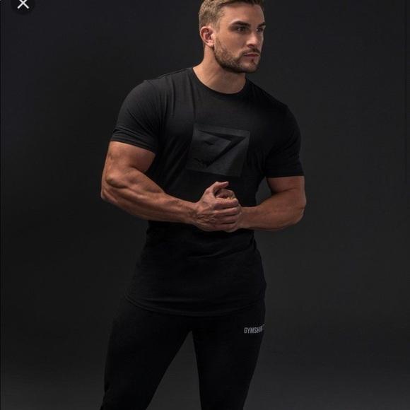 b374c160 Gymshark Shirts | Limited Ed Blackout Tshirt Men Xl | Poshmark